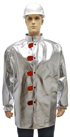 Otterlayer aluminized jacket front detail C11-ACF