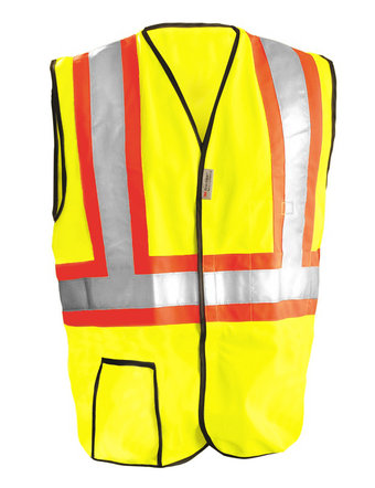 Occunomix OccuLux Economy Two-Tone and High Visibility Vest LUX-SSG2T Front