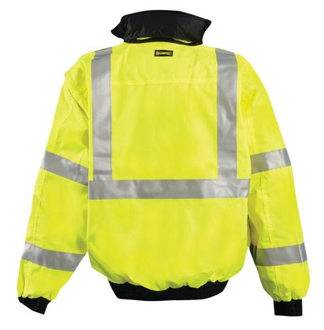 Occunomix OccuLux Rain Jacket LUX-TJBJ - High Visibility Bomber Back Yellow