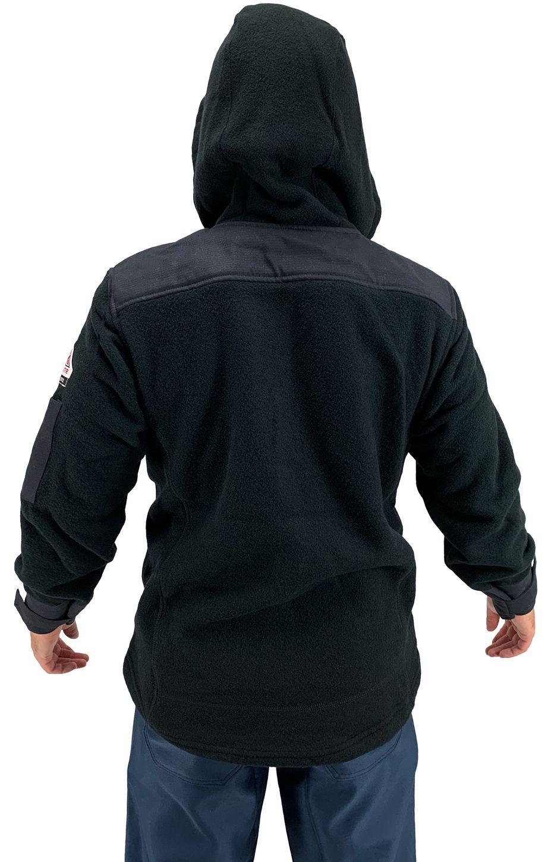 Bulwark FR Modacrylic Blend Fleece Hoodie SMH8 Front Zip Back