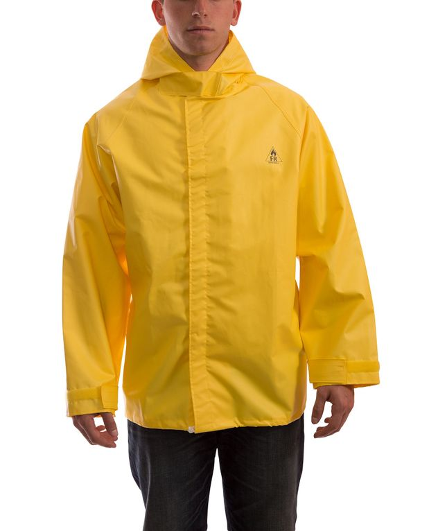 Tingley J56147 DuraBlast™ Fire Resistant Jacket - PVC Coated, Chemical Resistant, with Attached Hood Front