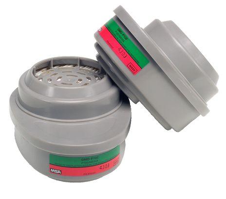 MSA Advantage 815365 Ammonia - Methylamine GMD Cartridge with P100 Filter