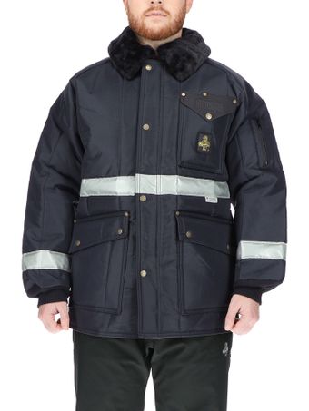 Refrigiwear 0343 Iron-Tuff Siberian Winter Work Coat With Reflective Tape Front View