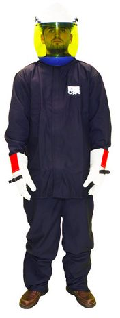 Chicago Protective Jacket and Bib 12 Calorie Arc Flash Suit
