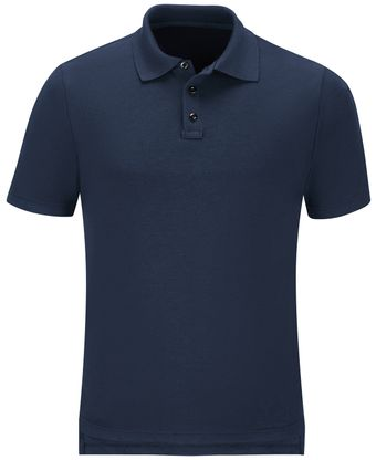 Workrite FR Polo Shirt FT10, Short Sleeve, Station Wear Navy Front