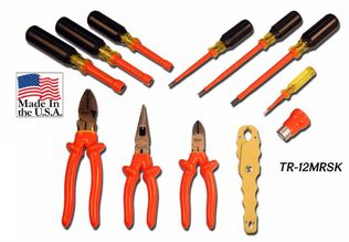 Cementex TR-12MRSK Insulated Meter Reader Tool Roll, 12PC