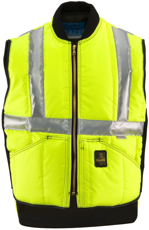 RefrigiWear 0399L2 HiVis Iron-Tuff Vest Lime