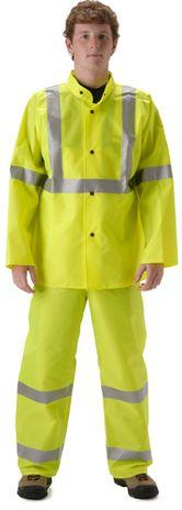 nasco worklite yellow hi viz lightweight tear resistant rainproof suit jacket