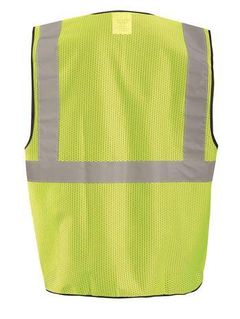 Occunomix ECO-GCS High Visibility Mesh Surveyor Vest Back Yellow