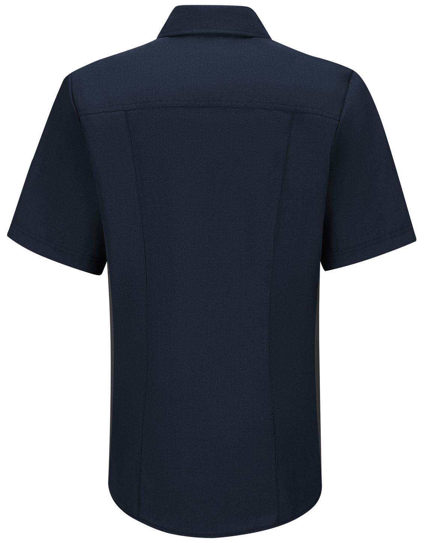 Workrite FR Women's Fire Officer Shirt FSE3, Classic Short Sleeve Navy Midnight Navy Back