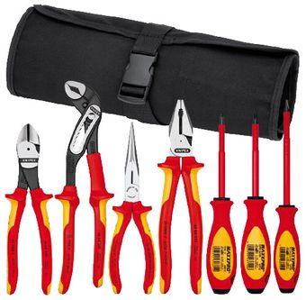 Knipex Tools Insulated Pliers and Screwdriver Tool Set In Nylon Pouch 9K 98 98 25 US