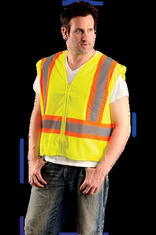Occunomix OK-DOT-S5L Hi-Viz Two Tone Mesh Vest With Zipper