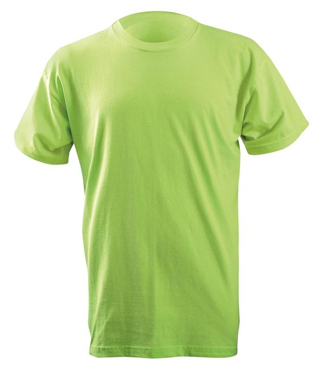Occunomix LUX-300 Hi-Viz Classic Cotton T-shirt Lime Front