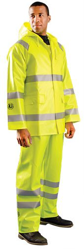 Occunomix Arc Flash Waterproof Rain Jacket LUX-TJR/FR Front