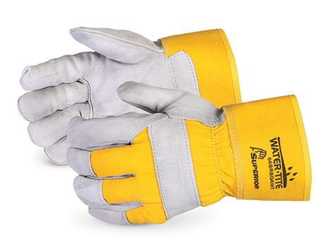 Superior 66BRBOAWT Waterproof Insulated Winter Work Gloves, Leather