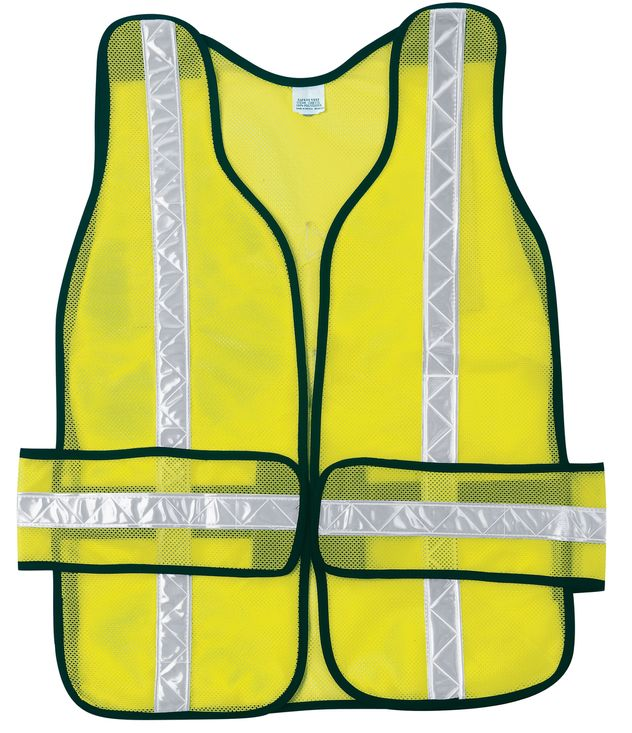 MCR Safety River City Safety Vest CHEV2L - High Visibility, Tear Away Sections Side