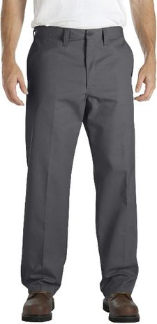Dickies Men's Pants - Industrial Flat Front Comfort Waist Pant LP817 - Charcoal