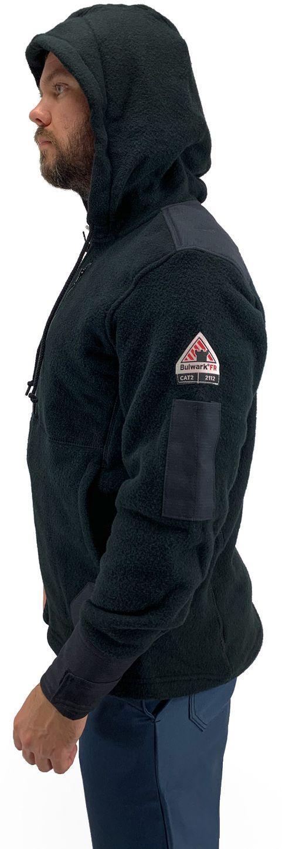 Bulwark FR Modacrylic Blend Fleece Hoodie SMH8 Front Zip Side