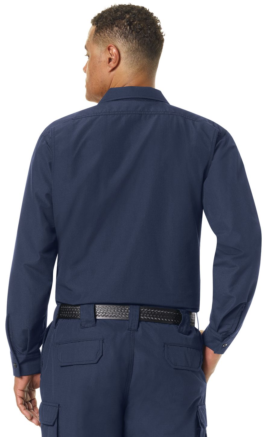 Workrite FR Shirt Jacket FST2, Ripstop, Tactical Navy Example Back
