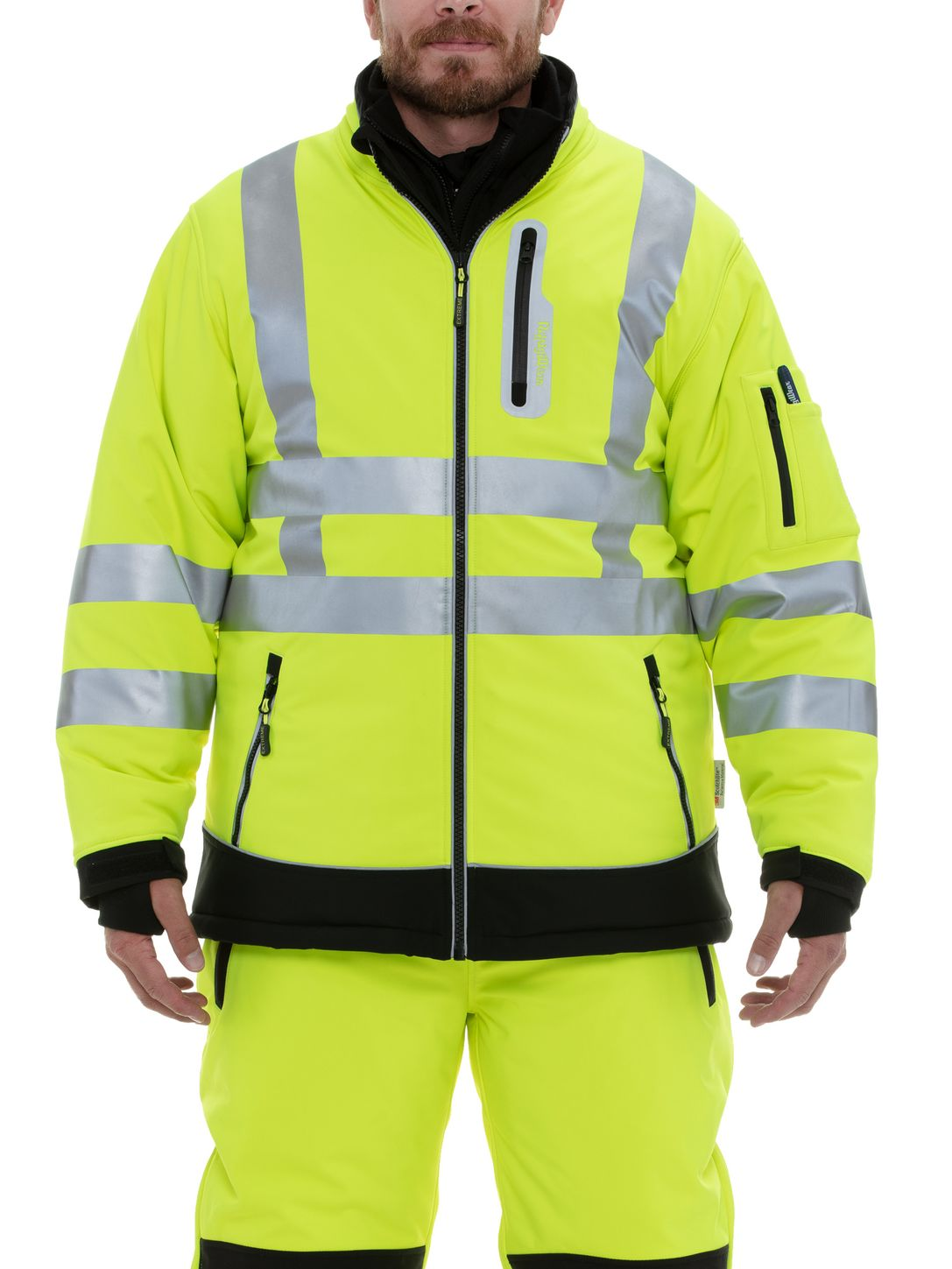 RefrigiWear 0796 HiVis Extreme Collection Softshell Jacket Front Example
