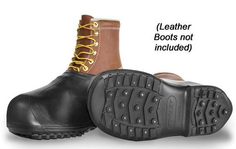 Tingley 1350 Rubber Overshoes with Ice Spikes