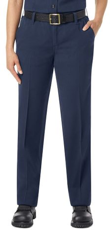 Workrite FR Women's Pants FP45, Station No. 73 Uniform Navy Example Front