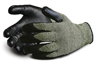 Superior Emerald CX Kevlar Stainless Steel Wire Core Cut Resistant Gloves, Nitrile Palm Coated SCXNT