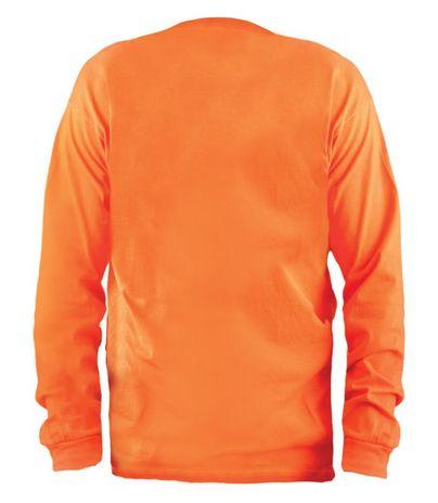 Occunomix LUX-300LP Hi-Viz Classic Cotton Long Sleeve T-shirt Shirt Back