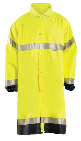 Occunomix LUX-TJRE High Visibility Breathable Rain Jacket Long Front