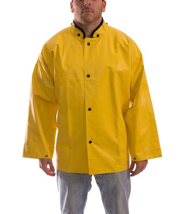 Tingley J12207 Magnaprene™ Flame Resistant Rain Jacket - Neoprene Coated, Chemical Resistant, with Hood Snaps Front