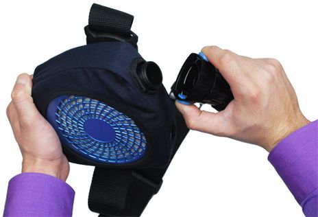Hose Attachment Detail for Chicago Protective RF-Kit Fan Blower for Arc Flash Suit
