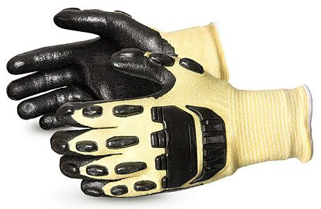 Cut Resistant Nitrile Foam Coated Gloves with Knuckle Guards Superior SKFGFNVB